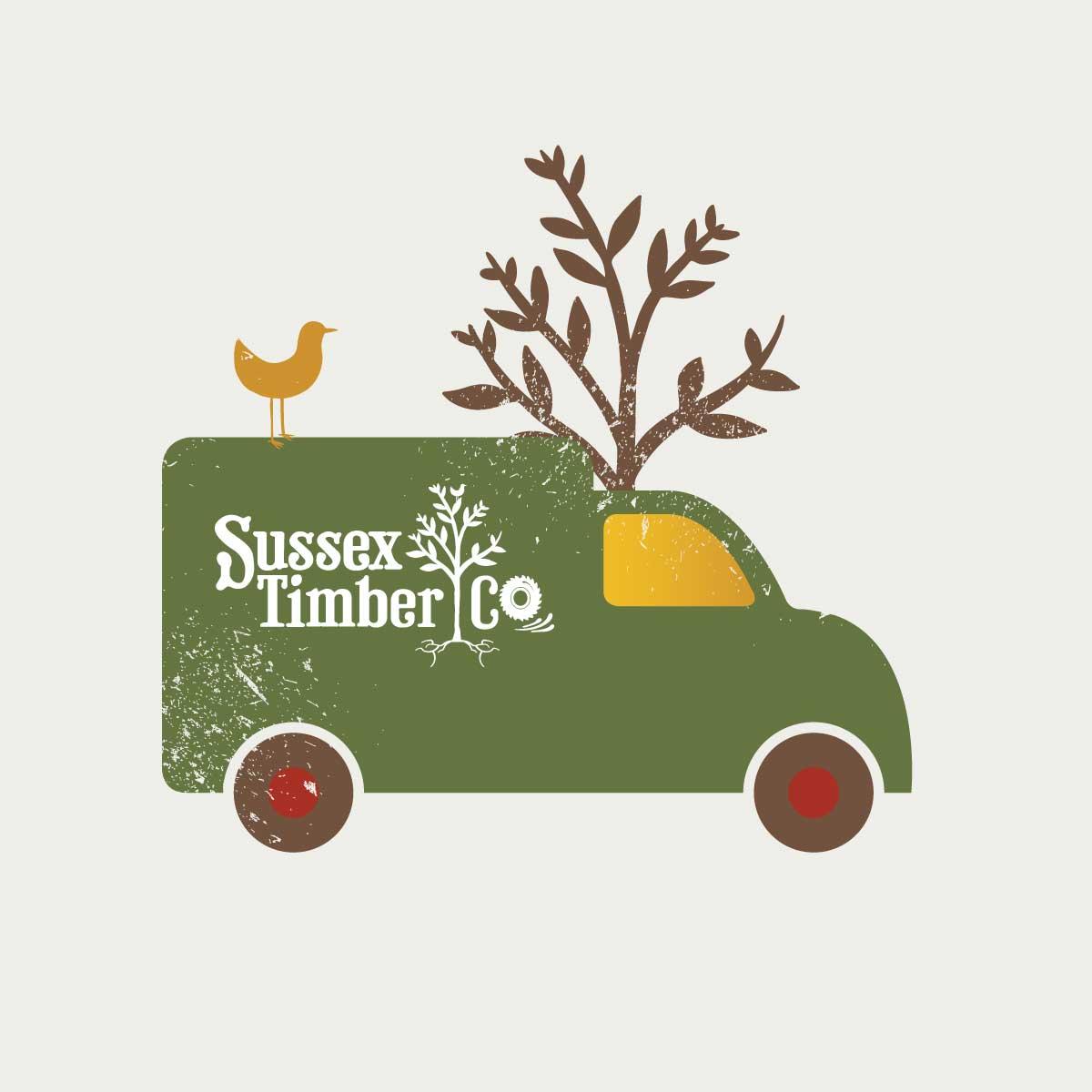 Sussex-Timber-Co-Van-Illustration