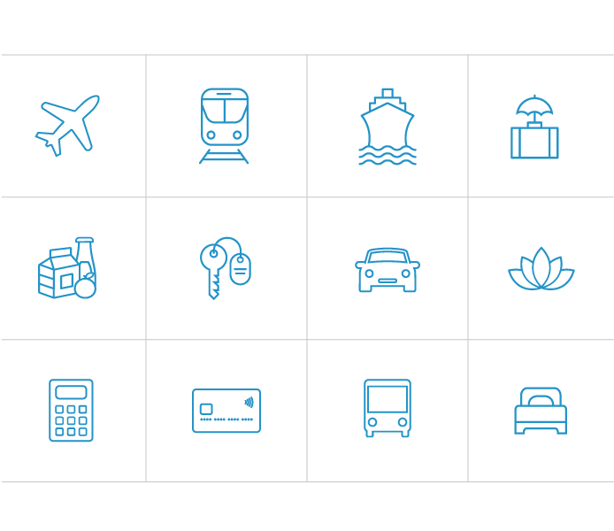 Various Blue Icons for Cortijo Romeros Website