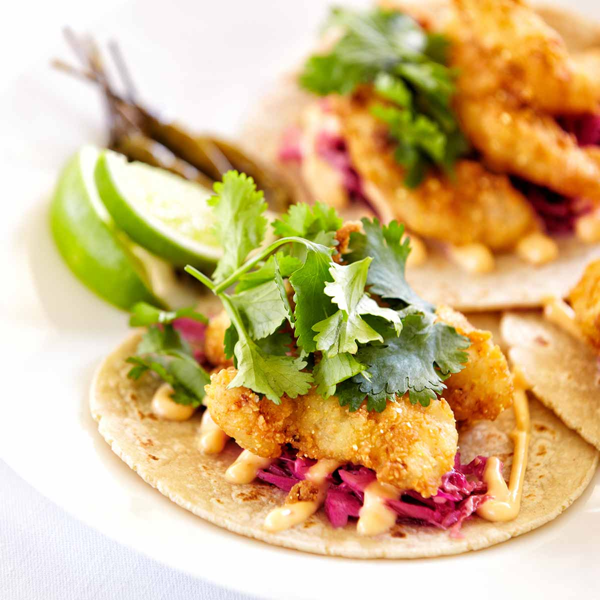 Fish taco image for dinner to go