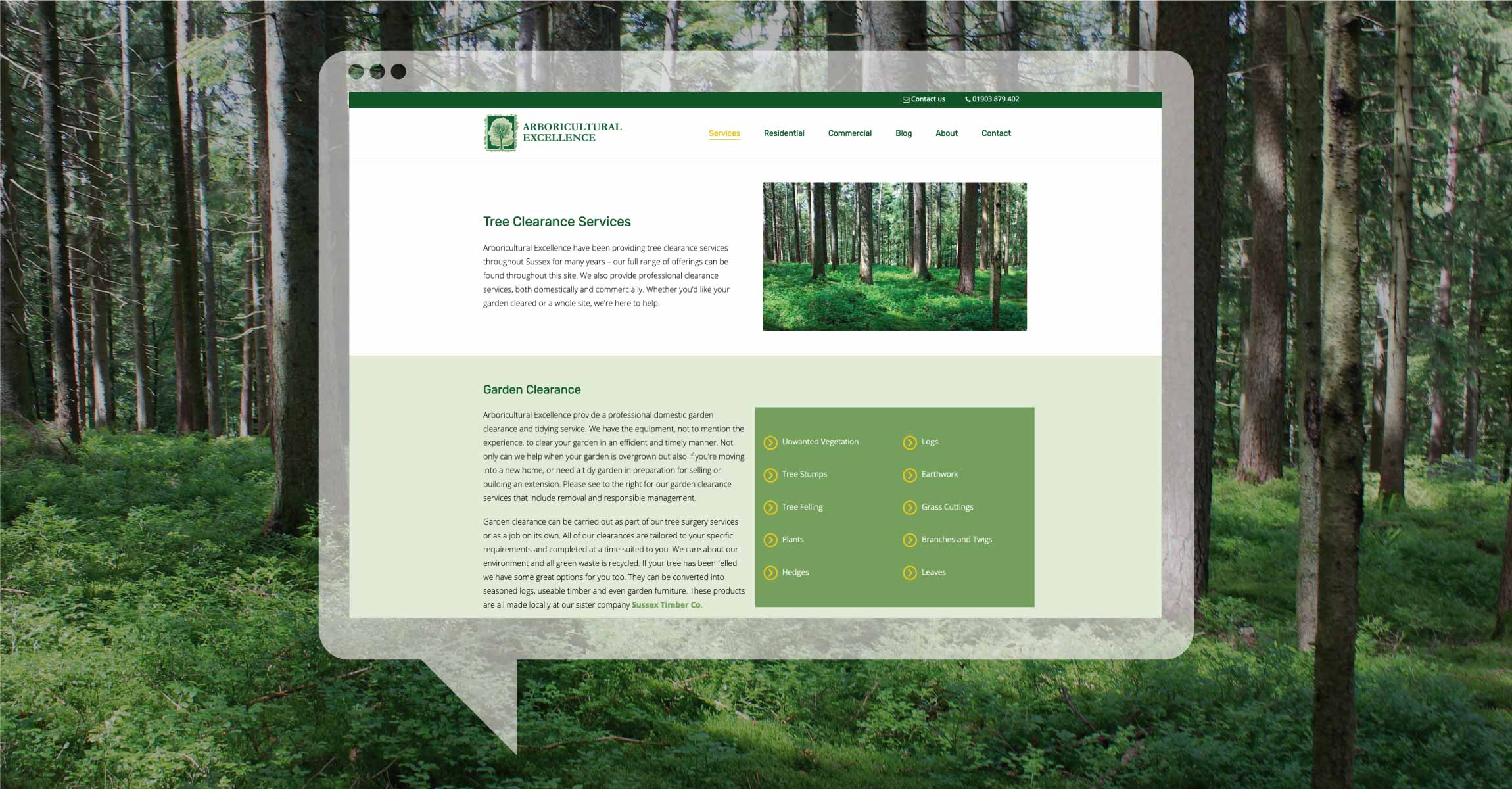 Arboricutural excellence Web Design by Hooked Design and Marketing