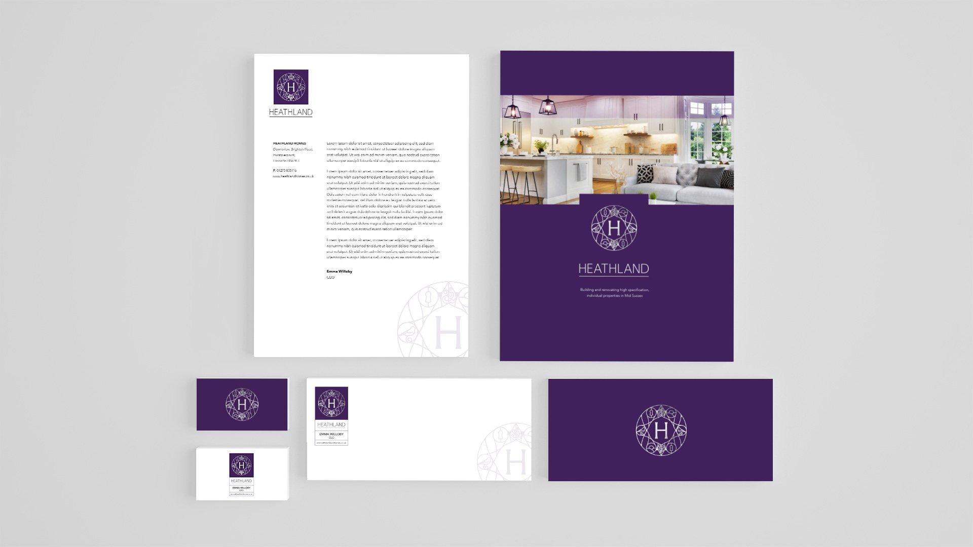 Stationery for Heathland Homes Property Developer