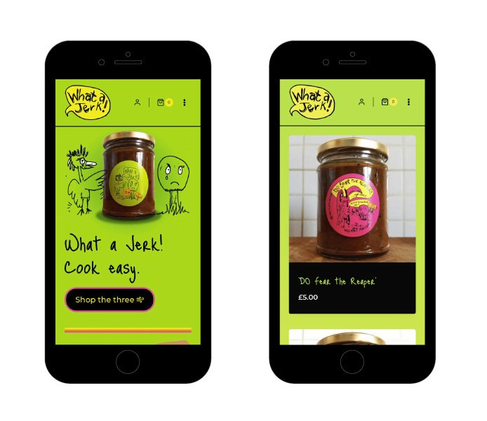 What a Jerk Smartphone Web Design by Hooked Design